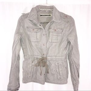 Daughters of liberation size 4 grey utility jacket
